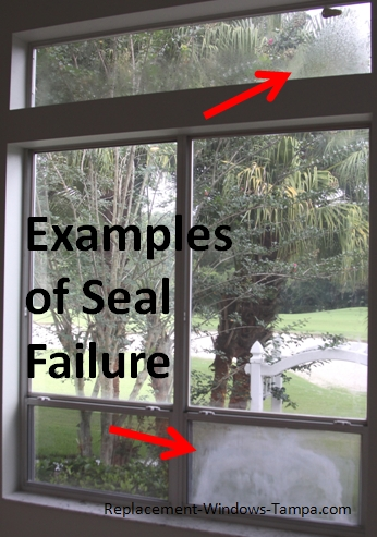 Insulated glass seal failure for Best insulated glass windows