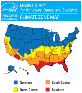 Best Windows for Energy Saving Map