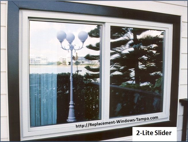 Replacement window styles and replacement window combinations for Replacement slider windows