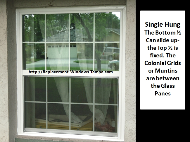 Single Hung Window Glass Repair : Replacement window styles and combinations
